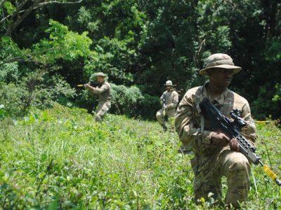 Regiment Soldiers Rumble In JA Jungle