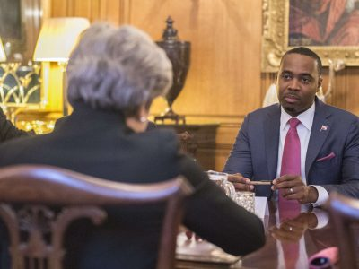 Premier Burt Meets With UK Prime Minister Theresa May & Overseas Territory Leaders & Opens BDA Forum