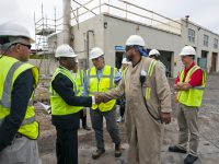 Minister Roban Tours SOL Fuel Plant in St George's