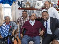 Premier Celebrates 100th Birthdays of Two Centenarians With Minister Rabain