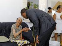 Premier Burt Visits Seniors Homes