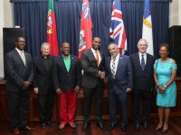 Premier Celebrates Portugal Day With Members of Vasco Da Gama Club on Reid Street