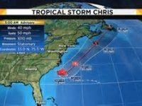 Tropical Storm Chris Expected to Bring Showers to Local Area by Wednesday