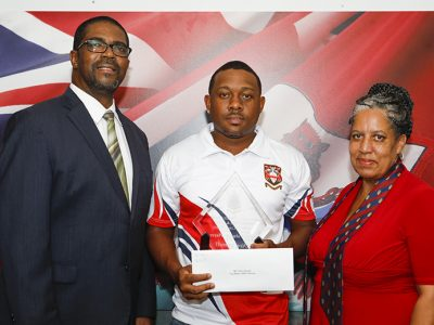 SCC Cup Match Team's Dion Stovell Presented With MVP Award