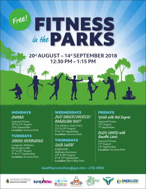'fitness In Bermuda The – 20th Real Free August Off Parks' Kicks kTZOXPiu
