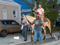 Winning Cup Match Captain Finishes Parade on Horseback For Victory Party at SCC