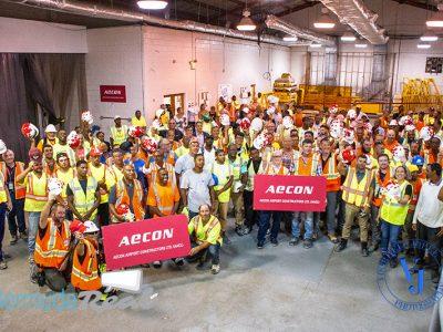 Aecon Celebrates Structural Steel Milestone