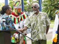Veteran Gombey Leon 'Sparky' Place Honoured at 2018 Bermuda Gombey Festival