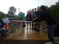 Health Minister Cuts Ribbon to Officially Open New Railway Bridges in Flatts