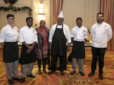 Culinary Apprentices Serve Up Holiday Cheer to their Colleagues