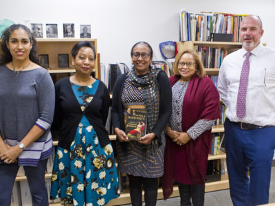 Minister Meets with 2019 Writer-in-Residence