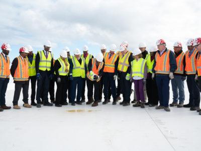 LF Wade International Airport Celebrates Roof Wetting