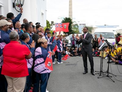 Jubilant Supporters Turn Out For Motorcade as Premier Welcomes Bermuda's Special Olympians