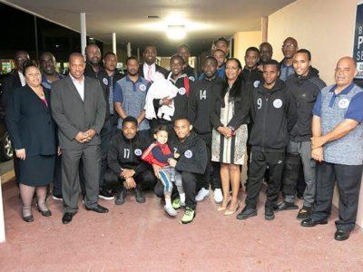 Men's National Football Team Returns Home