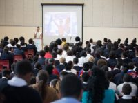 Dellwood Middle School Students Get Surprise Visit From Flora Duffy