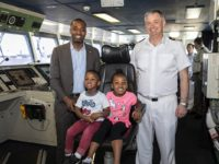 Premier Takes Firsthand Look at Royal Fleet Auxiliary Cargo Ship With His Children