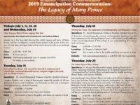Pubic Encouraged to Support Series of Events in Lead Up to Emancipation Day Observances