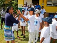 Sports Minister Congratulates Victorious St George's Mini Cup Match Team