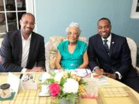 Premier Visits Mrs F Myrtle Edness in Celebration of Her 105th Birthday