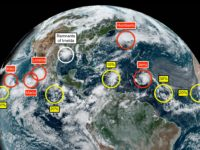 Jerry Upgraded to Category 1 Hurricane With 11 Storm Systems Brewing in the Atlantic & Pacific