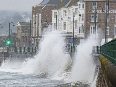 Hurricane Lorenzo Brings Flood Warnings to England & Wales
