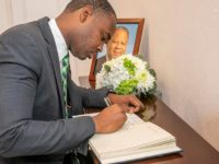 Condolence Book For The Late Walton Brown at Cabinet Office