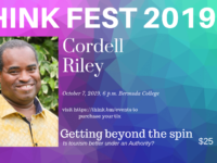 Final ThinkFest of 2019: Monday, October 7 at 6pm at Bermuda College