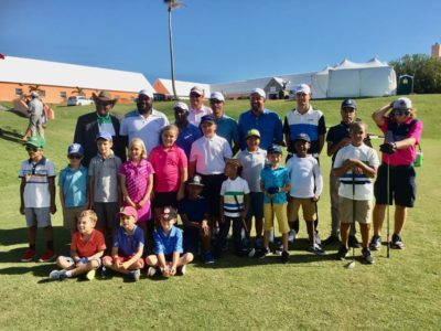 Juniors Connect With Bermuda Championship Players at Golf Clinic by Kim Swan