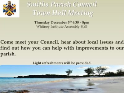 Smith's Parish Council to Host Town Hall Meeting on Thursday, December 5