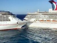 Two Huge Carnival Cruise Ships Smash Into Each Other in Mexico