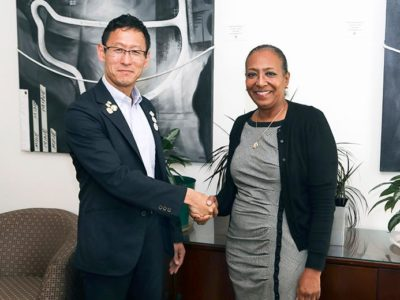 Minister Foggo and Japan's Olympic Official Meet ahead of Summer Games