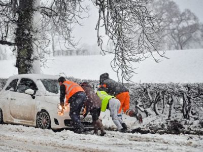 Snow Up to Four Inches Deep as UK Met Office Warns of Ice Blast