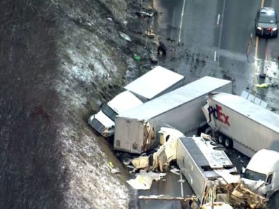 Five Dead & 60 Injured After Horror Crash Involving Tour Bus, Trucks & Cars