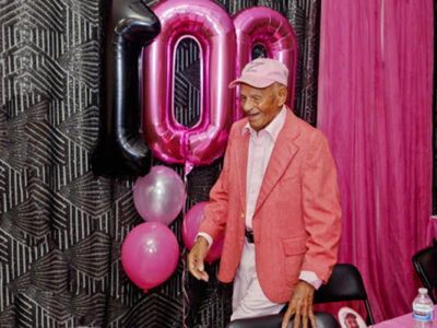 Bermudian Harold Smith Celebrates 100th Birthday in Pink With Premier