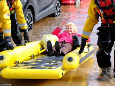 Woman Swept Away by Floods in UK Feared to be FIFTH Person Killed by Storm Dennis