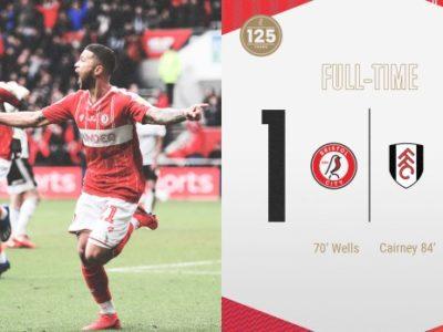 Nahki Wells Scores For Bristol City in 1-1 Draw Against Fulham