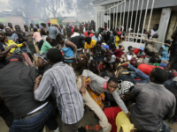 Stampede in Kenya as Slum Residents Surge For Food Aid