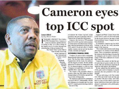 Cameron Eyes Top ICC Spot