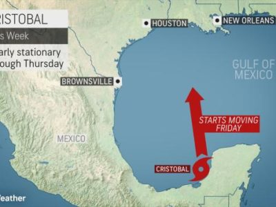 Record-Breaking Cristobal Could Approach US Gulf Coast as a Hurricane