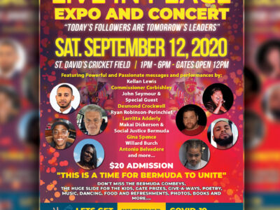 Bermuda Join Us For The 'Live In Peace' Expo & Concert On September 12, 2020