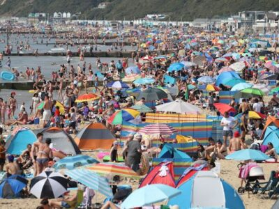 Travel Chaos As Cars 'Turned Away' From Heaving Beaches On Another Scorching Day