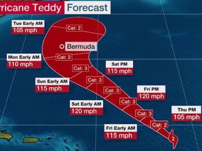 Hurricane Teddy May Strike Bermuda Just One Week After Paulette & Could Threaten Atlantic Canada