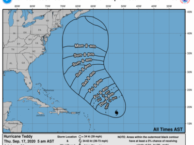 Hurricane Teddy Now Considered A Potential Threat To Bermuda