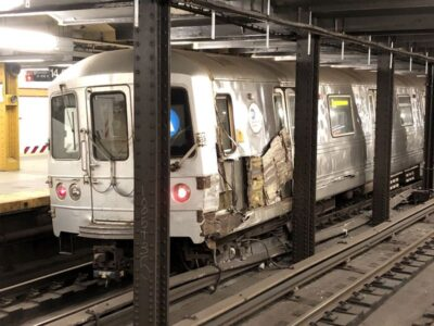Manhattan Subway Train Derails After Laughing Saboteur Clamps Planks Onto Tracks