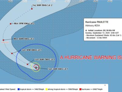 Hurricane Paulette On Path Toward Bermuda Could Strengthen Even More
