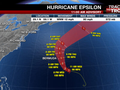 EMO Update On Hurricane Epsilon Still A Potential Threat To Bermuda