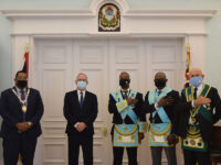 Outgoing Governor Hosts Scaled Down Peppercorn Ceremony At Government House