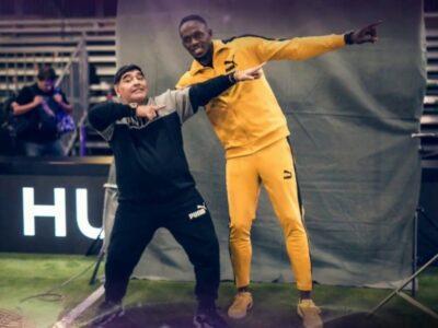 Sports Minister & Jamaican Sprinting StarUsain Bolt Pay Tribute To Football LegendDiegoMaradona.