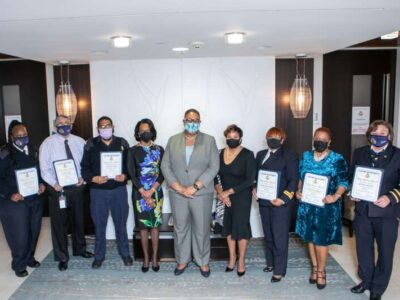 Customs Officers Who Collectively Represent 255 Years Of Service Honoured For Long Service