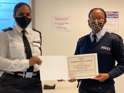 BPS: PC Shandora Burrows Is The 2020 Staff Person Of The Year In Community Policing Division